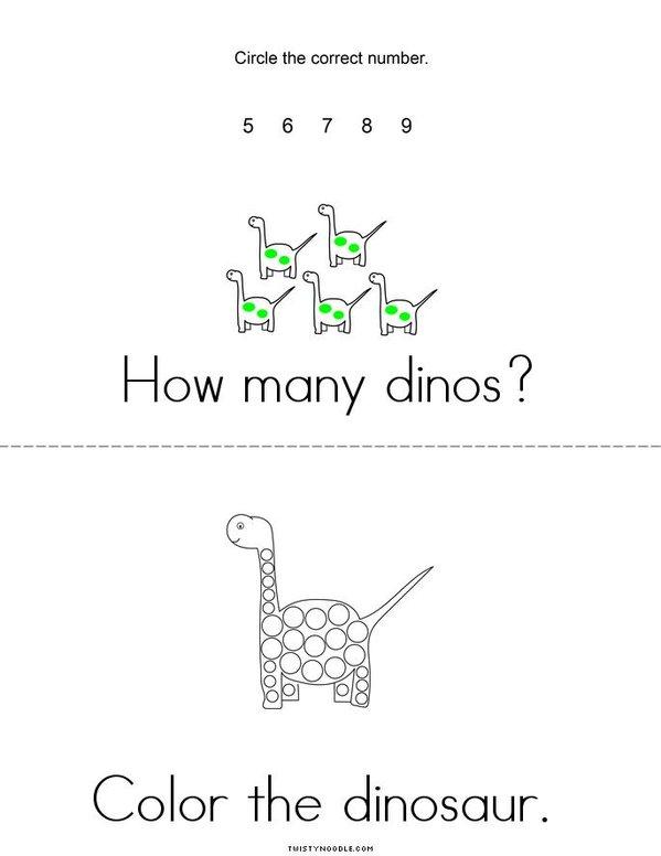 Dinosaur Activity Book Mini Book - Sheet 2