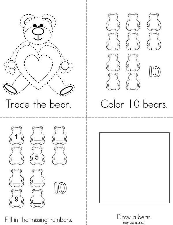 My Bear Activity Book Mini Book