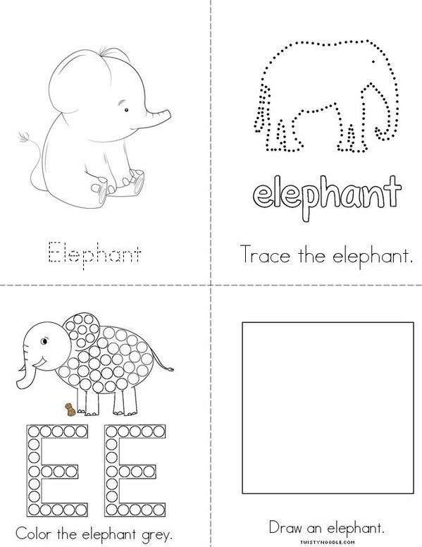 My Elephant Activity Book Mini Book