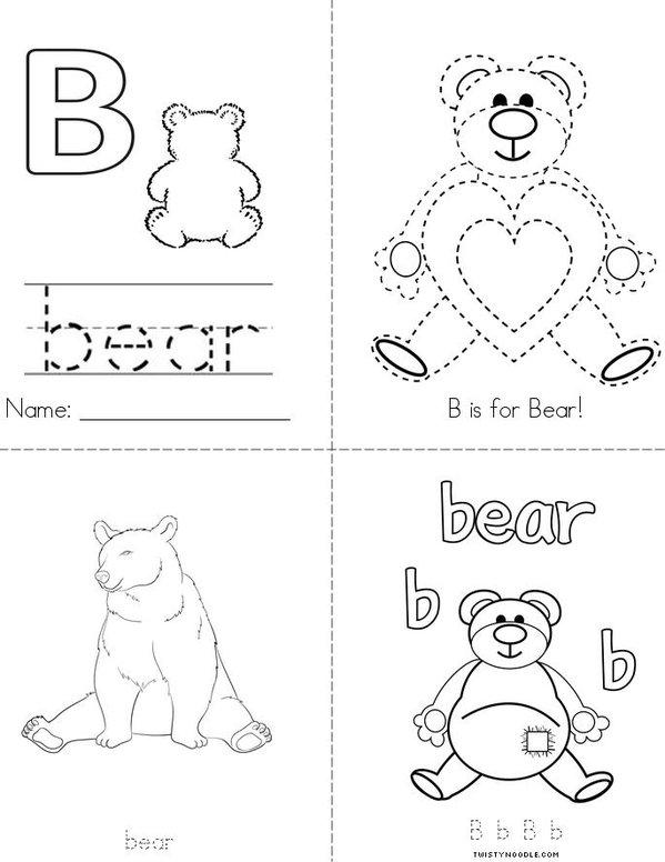 B is for Bear Mini Book