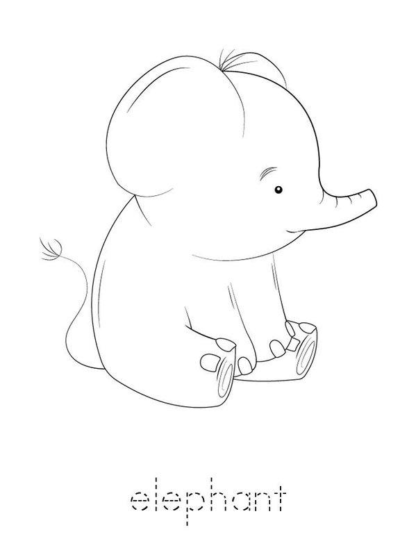 E is for Elephant Mini Book - Sheet 3