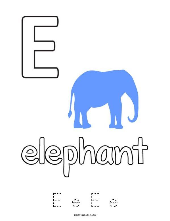 E is for Elephant Mini Book - Sheet 4