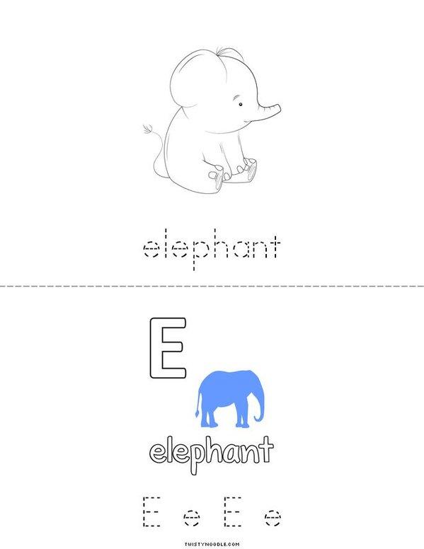 E is for Elephant Mini Book - Sheet 2