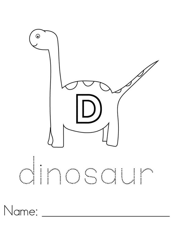 D is for Dinosaur Mini Book - Sheet 1
