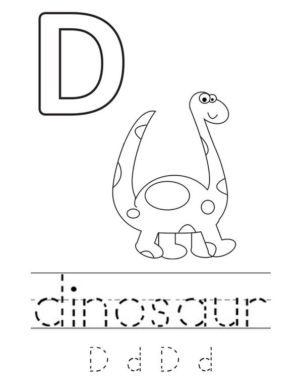 D is for Dinosaur Mini Book - Sheet 2