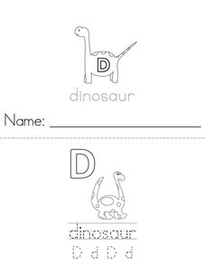 D is for Dinosaur Book