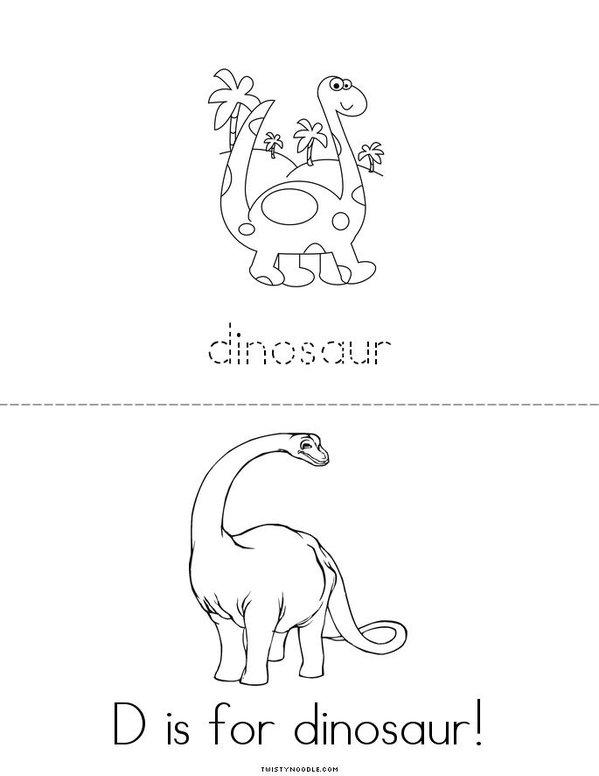 D is for Dinosaur Mini Book - Sheet 2