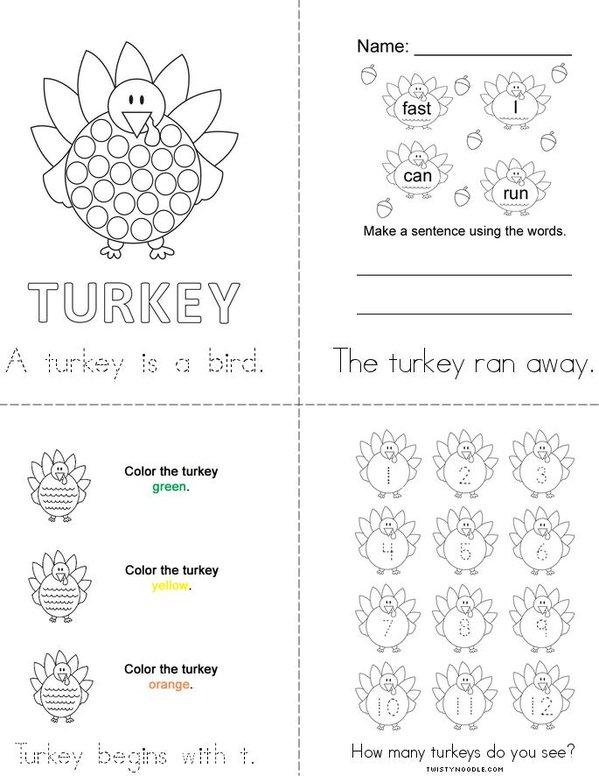 Turkey Book - Twisty Noodle