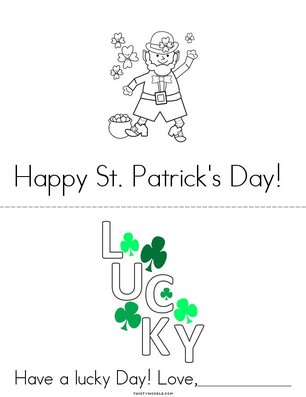 St. Patrick's Day Card Book