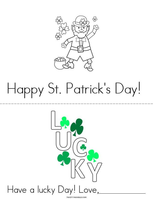 St. Patrick's Day Card Mini Book