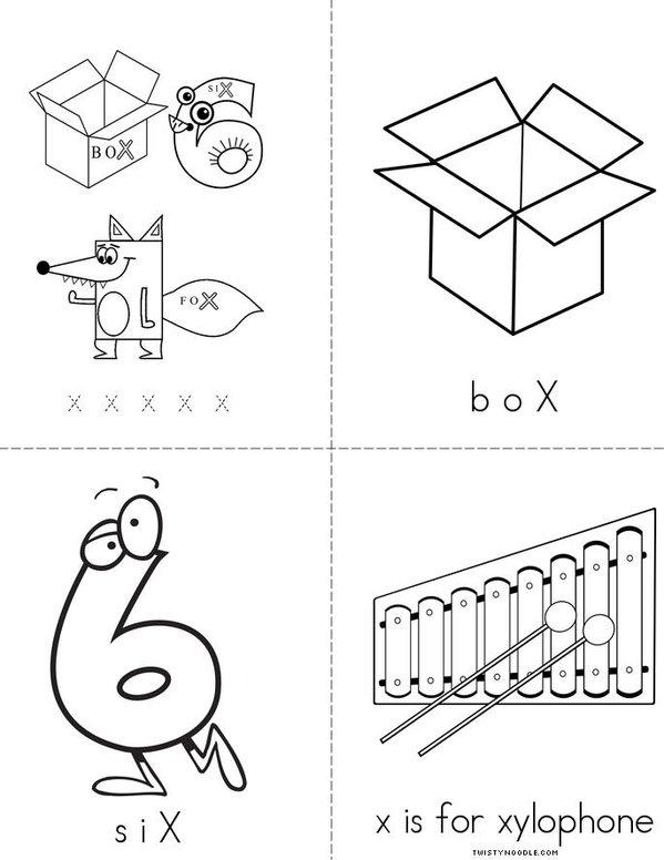 Letter X Mini Book