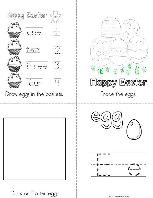 Egg Activity Book Mini Book - Sheet 2