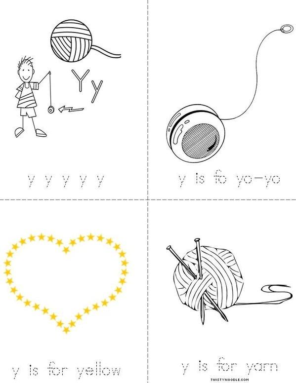 Letter Y Mini Book