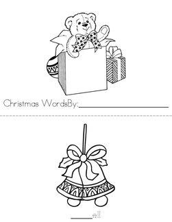 Christmas Words Book