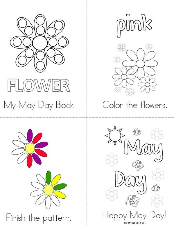 My May Day Activity Book Mini Book