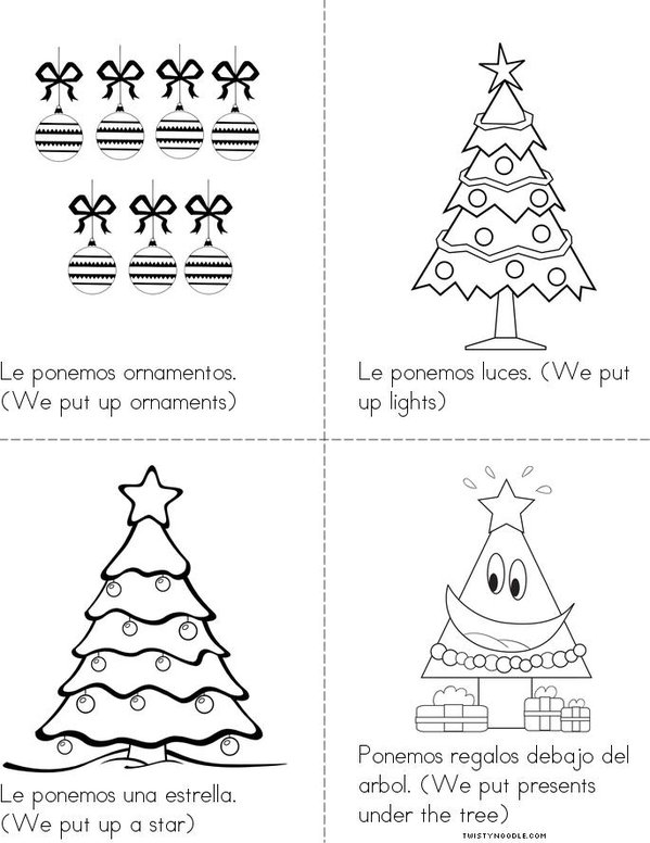 Decorar un Arbol (Decorate a Tree) Mini Book