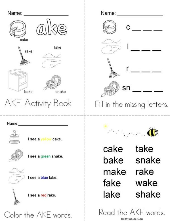 My AKE Activity Book Mini Book