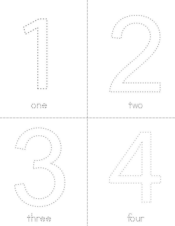 Trace and Color the Numbers Mini Book - Sheet 1