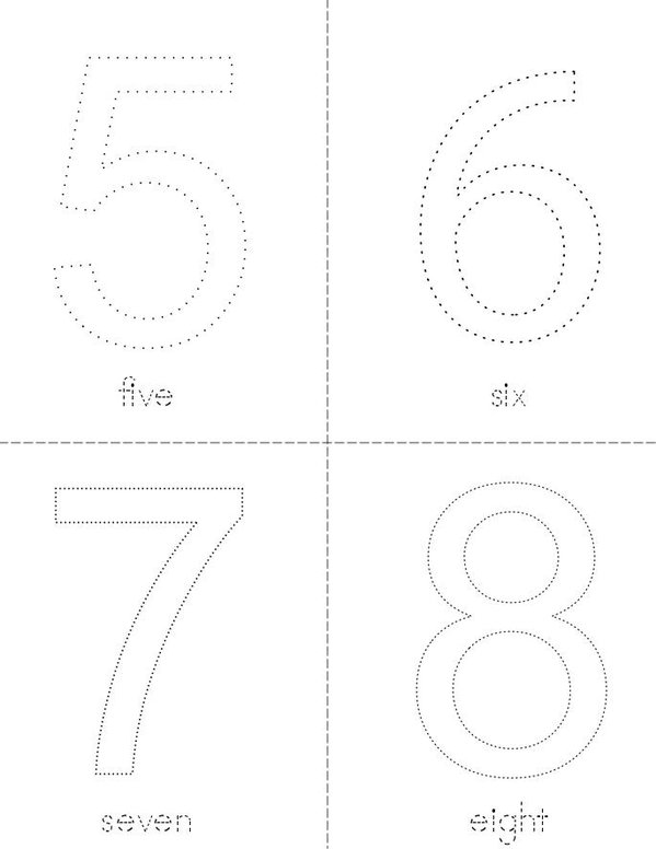 Trace and Color the Numbers Mini Book - Sheet 2