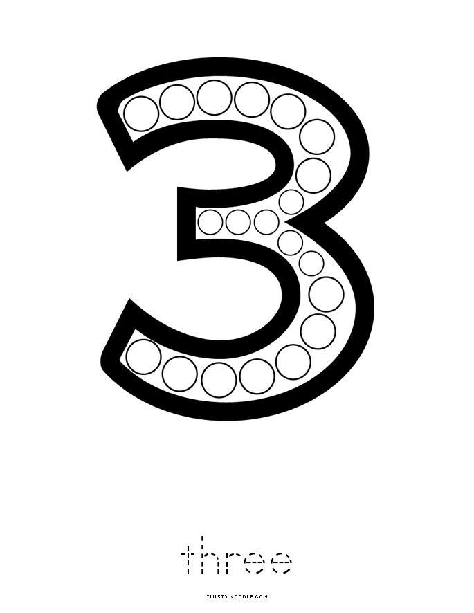 Number 3 Book - Twisty Noodle