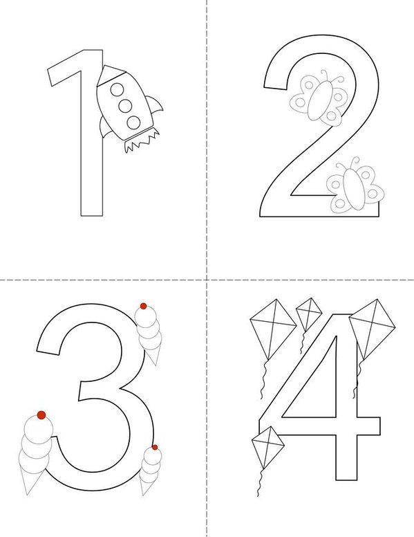 Numbers Mini Book - Sheet 1