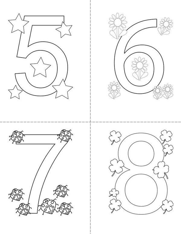 Numbers Mini Book - Sheet 2