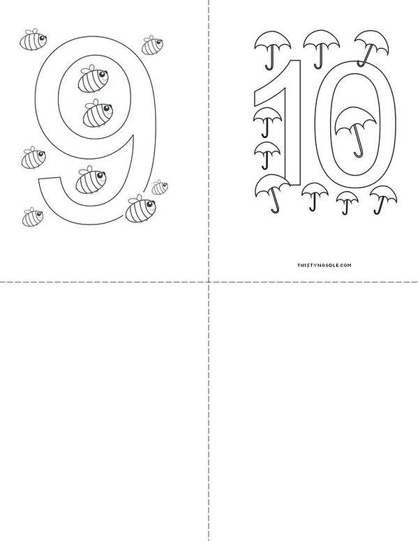 Numbers Mini Book - Sheet 3