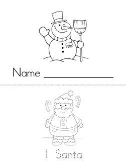 Christmas Counting 1-9 Book
