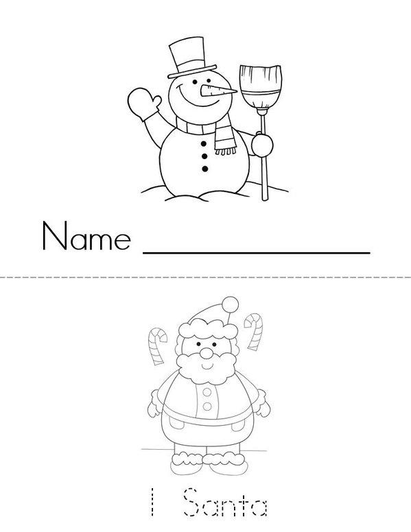 Christmas Counting 1-9 Mini Book - Sheet 1