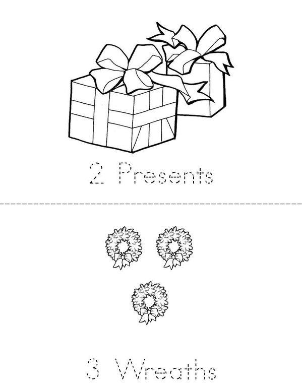 Christmas Counting 1-9 Mini Book - Sheet 2