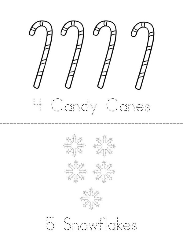 Christmas Counting 1-9 Mini Book - Sheet 3