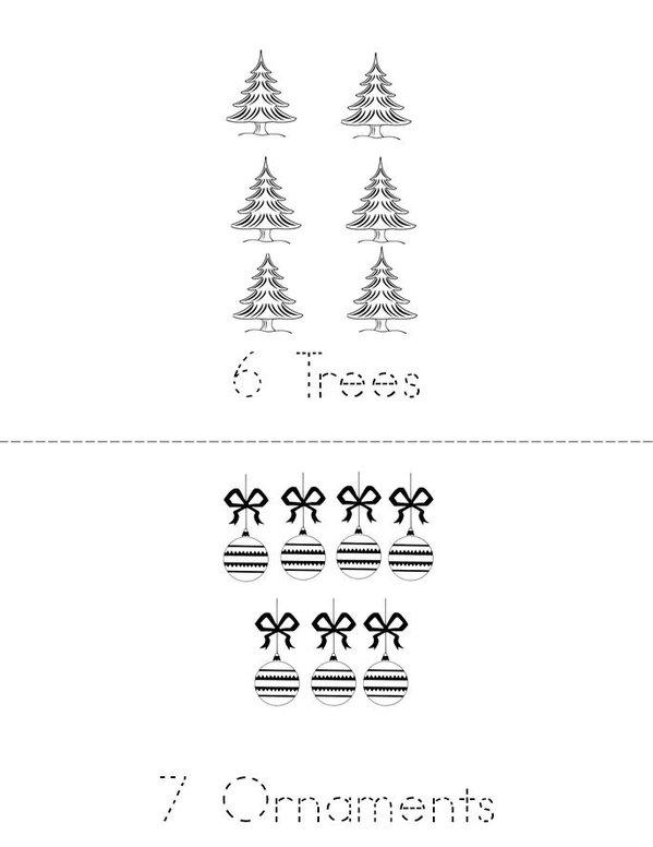 Christmas Counting 1-9 Mini Book - Sheet 4