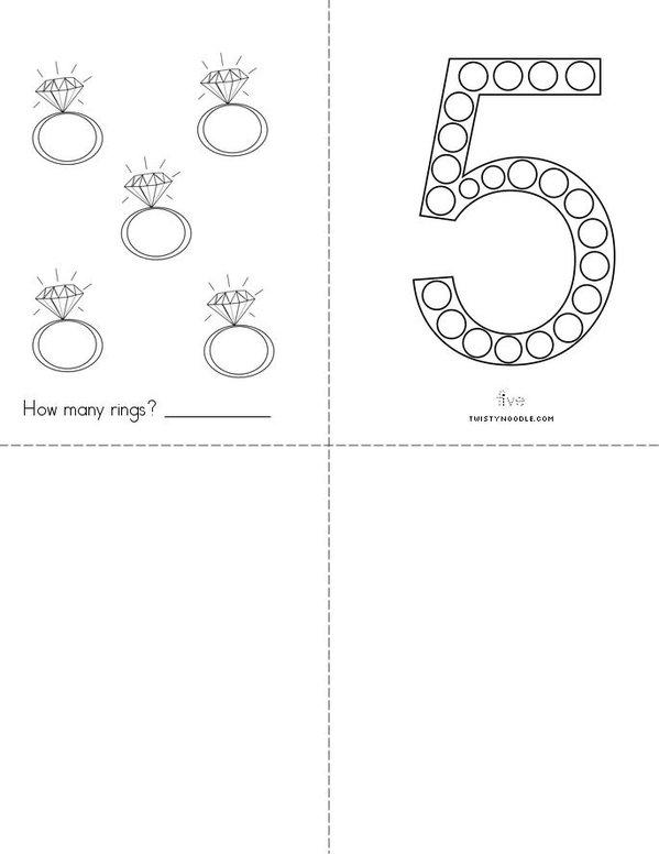 Hello Number 5! Mini Book - Sheet 2