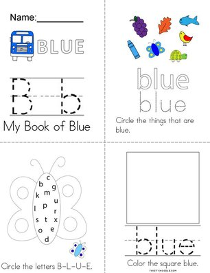 Blue Activity Book