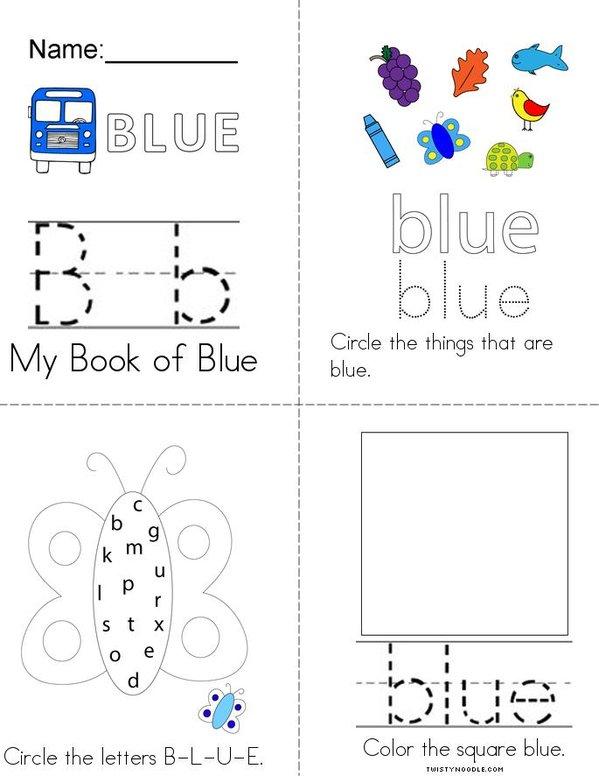 Blue Activity Book Mini Book