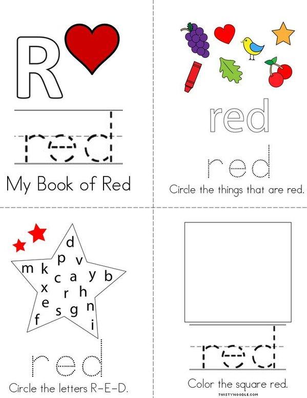Red Activity Book Mini Book