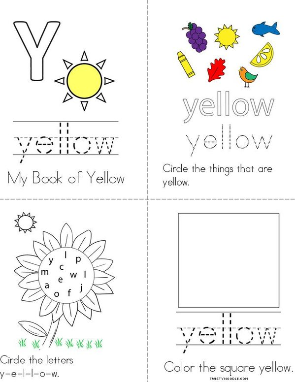Yellow Activity Book Mini Book