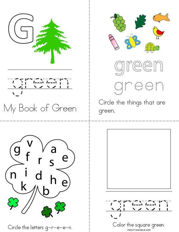 Green Activity Book Mini Book