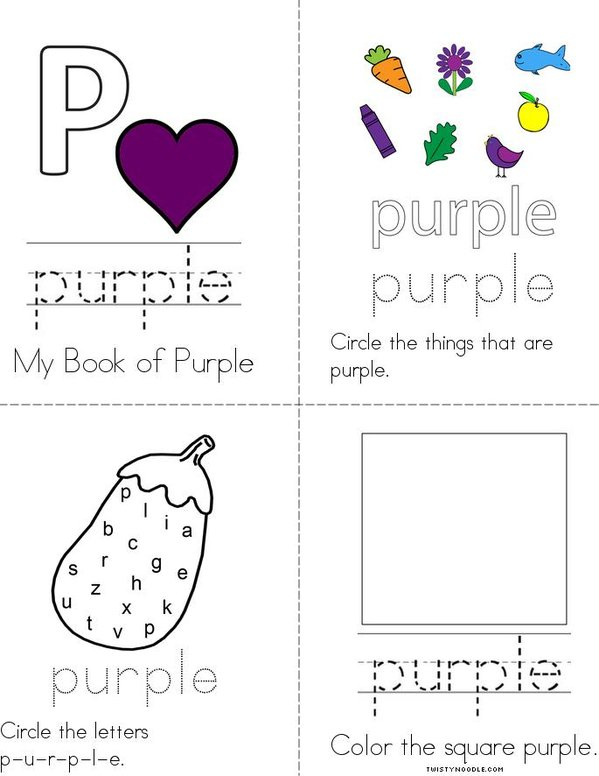 Purple Activity Book Mini Book