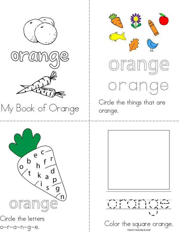 Orange Activity Book Mini Book