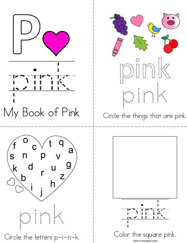 Pink Activity Book Mini Book