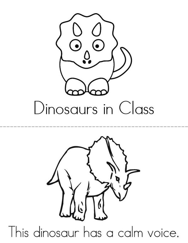 The Dino Den Mini Book - Sheet 1