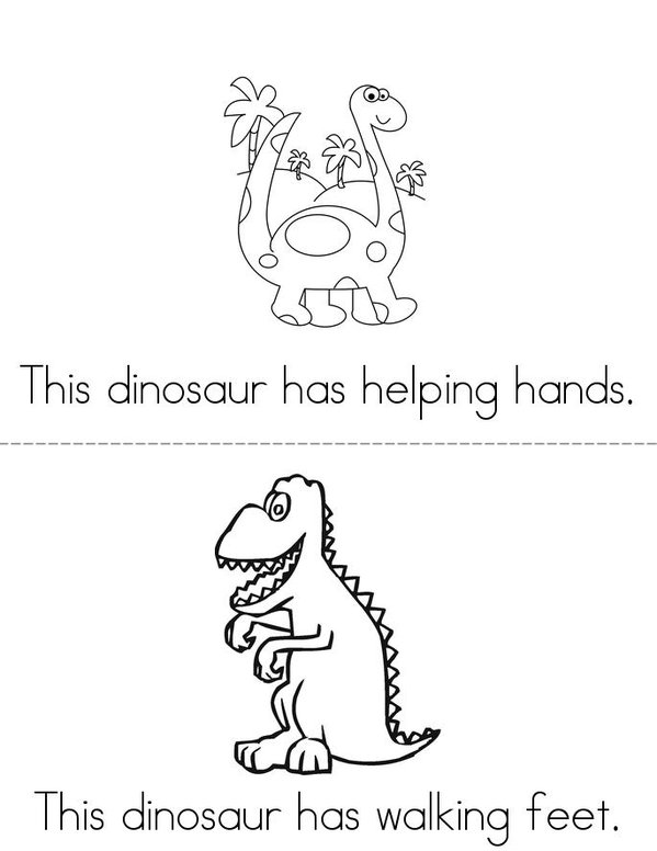 The Dino Den Mini Book - Sheet 2