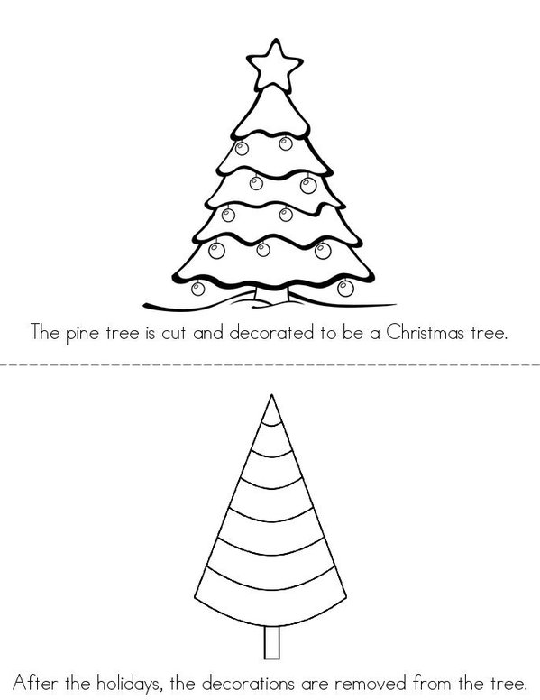The Life Cycle of a Christmas Tree Mini Book - Sheet 3