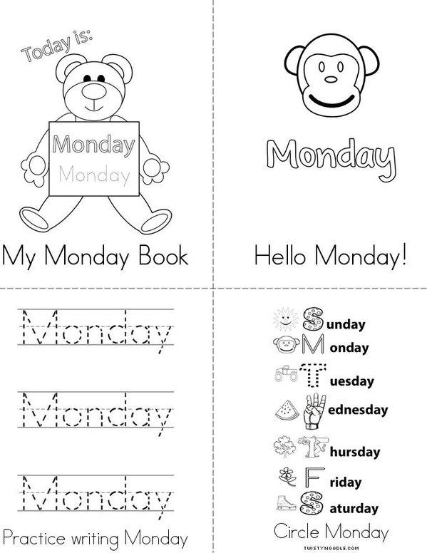 My Monday Book Mini Book