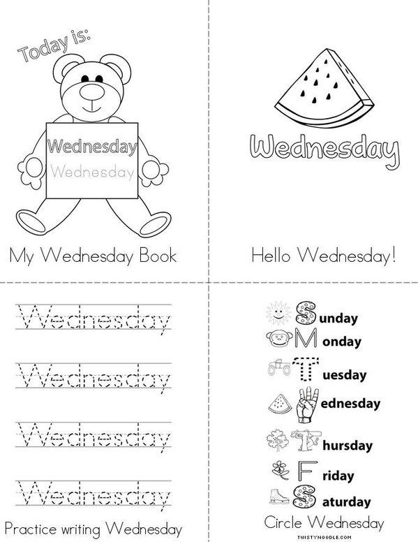 My Wednesday Book Mini Book