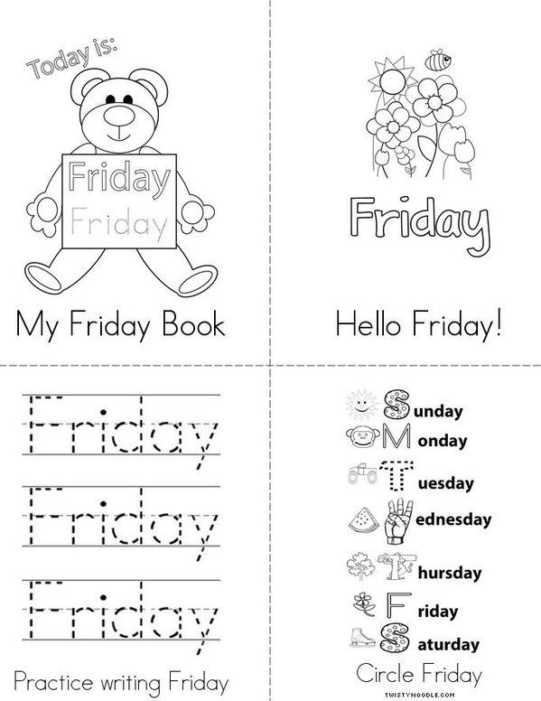 My Friday Book Mini Book