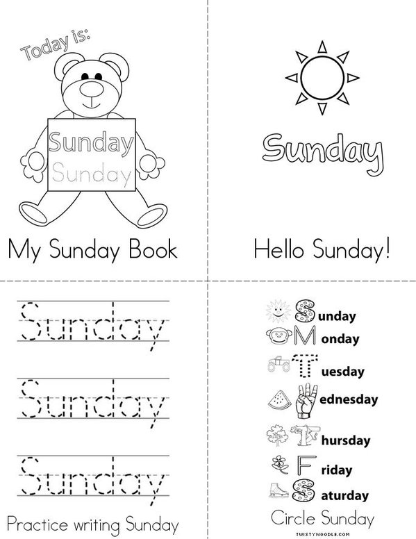 My Sunday Book Mini Book