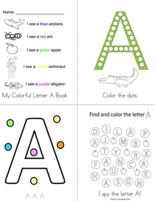 My Colorful Letter A Book