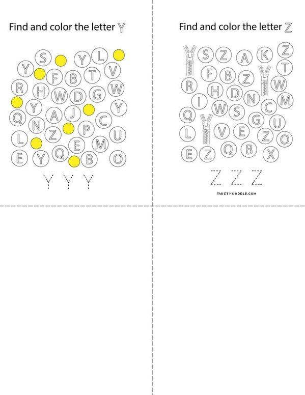 I Spy Letters Mini Book - Sheet 7